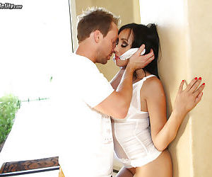 Asian milf with brunette hair Katsuni rides a big cock of her man