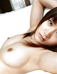 Hawt Chinese model Noa Aoki uncovering her titties and entrancing off her strings