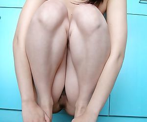 Fuckable asian girl with choking cooter good-looking off her clothing