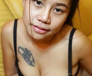 Thai first timer spreads her legs to showcase her pussy after getting naked