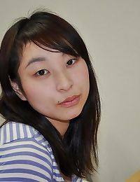 Energetic oriental young Kasumi Ayano undressing and vibing her g-point