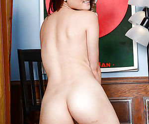 Sassy asian amateur undressing and showcasing her goods in close up