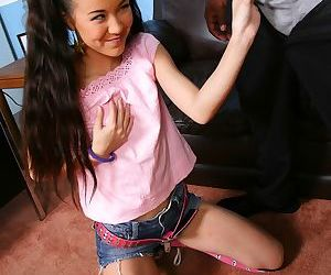 Tiny Asian girl Rico Strong- Amai Liu goes 1 on 1 with a big black dick