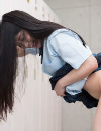 Japanese schoolgirl sucks teacher in the class & fucks him in the hallway