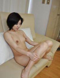 Sweet oriental MILF Mayumi Iihara undressing and jerking off her gentile