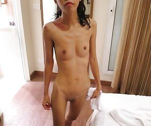 Skinny Thai prostitute penetrated by white cock complete with creampie