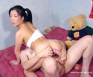 Slippy thai floosie gets her tight pussy slammed hardcore