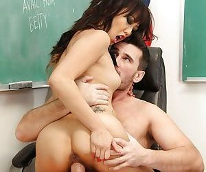 18 year old Asian sweetie Miko Dia having pussy ate out by her teacher