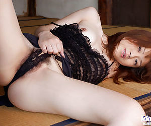 Kyoko Nakajima showcasing her heart of hearts with hard nipples increased by prudish cooter