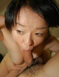 Experienced Asian lady Tomoe Nakamachi taking cock in her Oriental ass