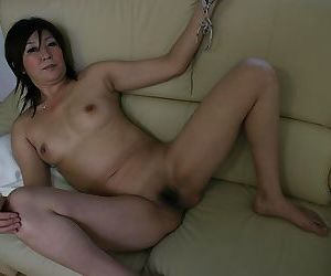 Playful Asian whore Keiko Ayata showing delicious hairy vagina