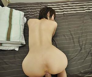 Asian MILF Chiaki Sugai gets her trimmed pussy cocked with respect to plus creampied