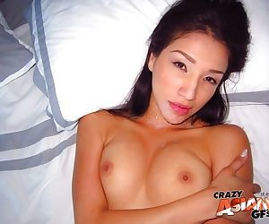 Asian hottie Vicki Chase gets ass fucked and takes cumshot in mouth