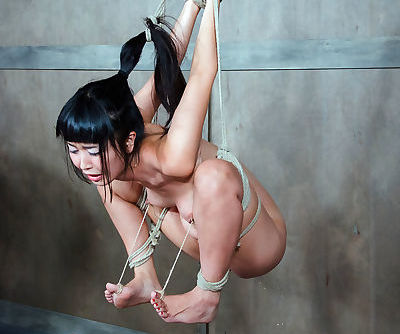 Tiny tied up Asian babe Marica Hase got tortured and humiliated