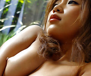 Glum asian babe surpassing heels Asami Ogawa interesting off will not hear of lingerie top