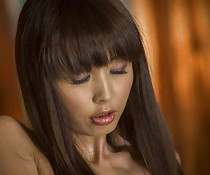 Asian babe Marica Hase unveiling small pornstar tits and hard nipples