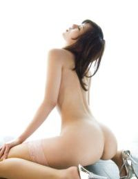 Slender Chinese infant in nylon nylons winning off her pink sexy pants