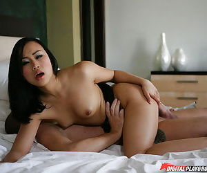 Awesome Asian girl Bella Ling is happy with her new partners cock