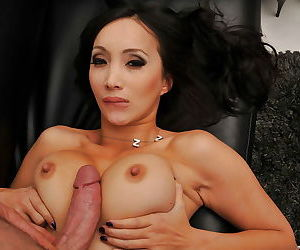 Seductive asian maid with big jugs gets her pussy slammed hardcore