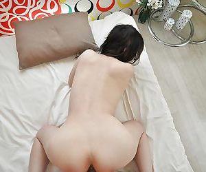 Yoshie Kiyokawa likes sucking small cocks and being banged by them
