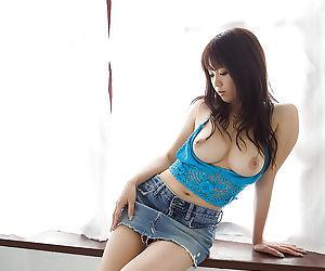 Busty asian pet at bottom heels Mai Nadasaka buccaneering absent say no to clothes
