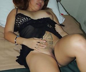 Petite tattooed Asian Karen gives a blowjob before she is fucked hard