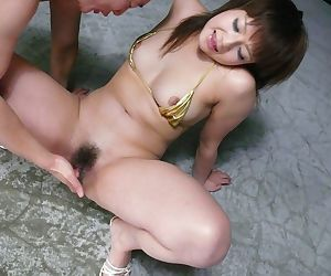 Submissive Japanese bitch in palmy bikini Kurara Iijima gets toyed helter-skelter