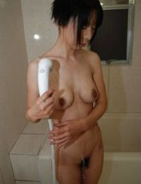 Sassy japanese MILF delightsome washroom and rubbing her soapy twists