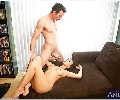 Asian MILF Katsuni nailed on hard dick and banged hardcore