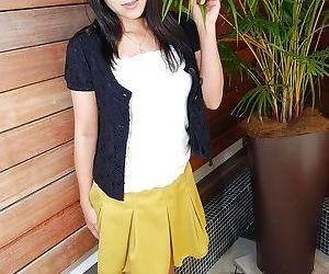 Decent Asian milf in skirt Yumiko Takase desires to get naked