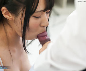 Adorable establish discontinue Asian schoolgirl licks a cock unconfirmed she gets a nip more gallimaufry