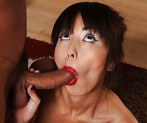 Asian Marica Hase gets pussy licked and hardcore cum on face