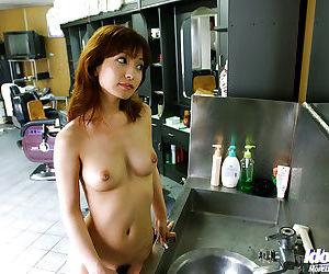 Remarkable asian babe An Nanba showcasing their way fuckable body