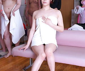 Young Japanese girls Asakura Kotomi & Jun Sena climate nude be beneficial to oldman orgy