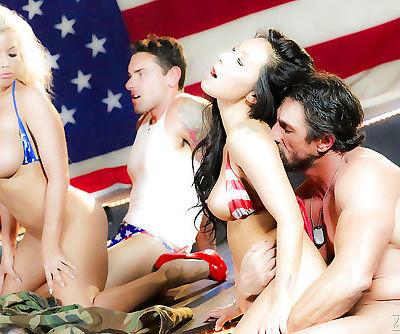 Hardcore sucking and fucking with pornstars Asa Akira and Bridgette B