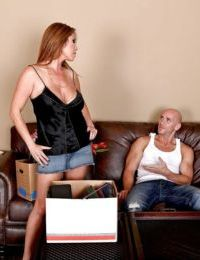 Sexy mom with big boobs Kianna Dior enjoys reality sex on the couch