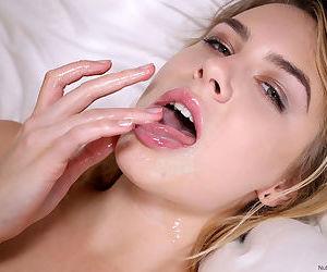 Sexy beautiful blonde Alecia Fox licking big cock and fucking doggystye