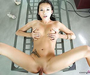 Amateur hardcore fuck with an Asian brunette cowgirl Alina Li