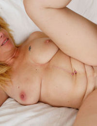Chubby older woman Brandie Sweet finishes up a sexual escapade with a creampie