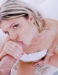 Masturbating girlfriend Gina Gerson gets some big cock in hard anal bang