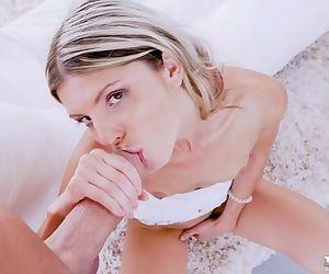 Masturbating girlfriend Gina Gerson gets some big load of shit in indestructible anal burgeon
