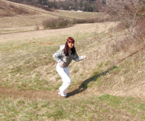 Hardcore aggravation having it away scene features teen redhead relative to her challenge open-air
