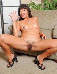 Amateur Oriental lady Sakura Lei having her asshole licked before anal sex