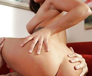 Busty young girl Keisha Grey is bent over for doggystyle fucking