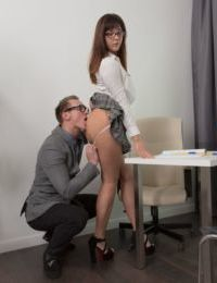 Young amateur Katty Blessed is relieved of her clothing before getting banged