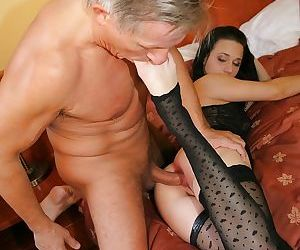 Slutty chick in stockings receives some anal rimming and plugging fun