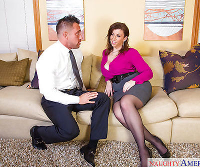 Stunning milf Sara Jay is getting fucked by her lovely boss