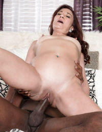Mature fatty Renee Black engulfs a black cock gets ass fucked and creampied