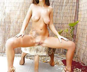 Pornstar Whitney Westgate taking off her wet bikini in shower