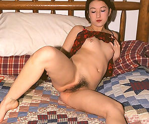 Petite Asian first timer Hazel pulling panties aside to reveal hairy vagina